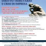 Locandina Diritto Tributario e crisi di Impresa 11 luglio 2019
