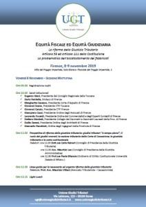 programma convegno UGT 8-9 novembre 2019 Firenze